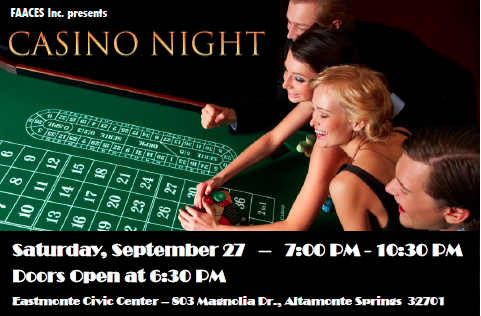 faaces casino fundraiser night